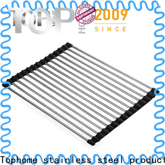 Top Home Stainless steel roll up dish drying rack promotion for kitchen