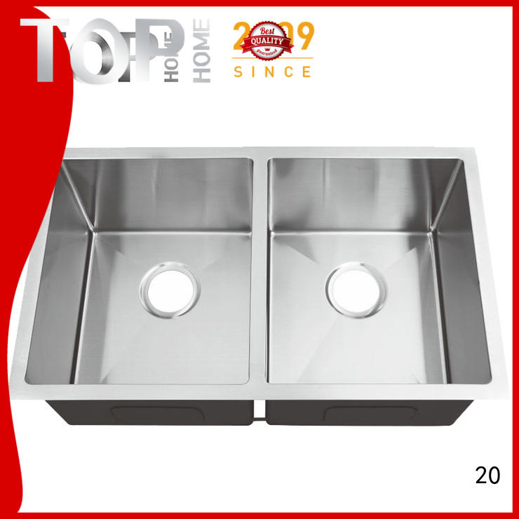 Top Home handcraft black undermount sink easy installation restaurant