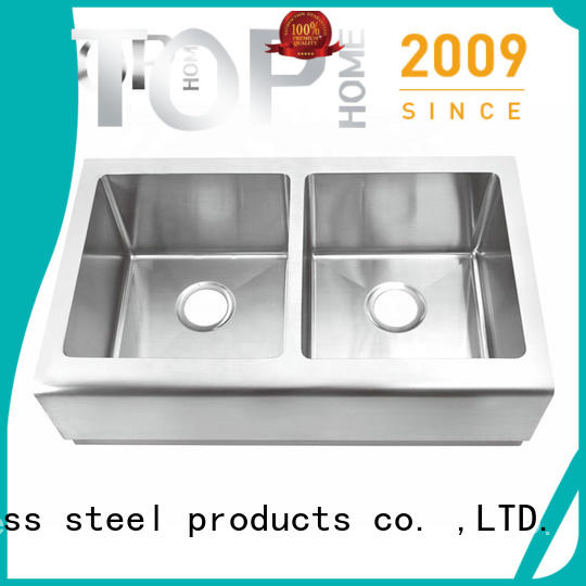 Top Home stainless steel apron front sink durable outdoor countertop