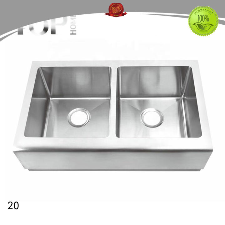 TH3220A 16/18 Gauge Modern Design Handmade Stainless Steel Apron Sink with CUPC