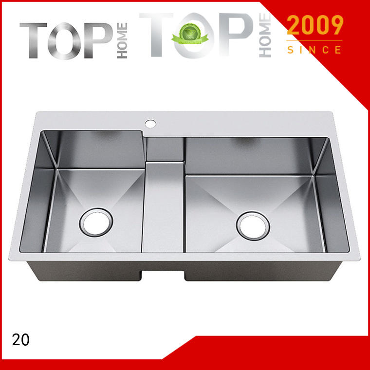 Top Home stainless top mount farmhouse sink easy cleaning villa
