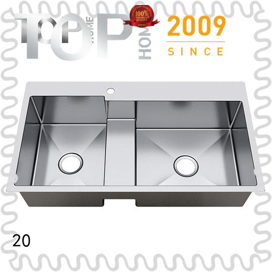 Top Home top top mount stainless steel sink easy cleaning farmhouse