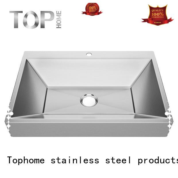 clean Custom steel brushed stainless steel bathroom sink Top Home bathroom