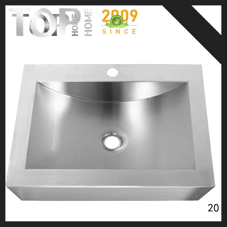 Top Home apbr4620s stainless bathroom sink basin for bathroom