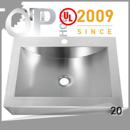 Top Home pedestal stainless bathroom sink fixtures