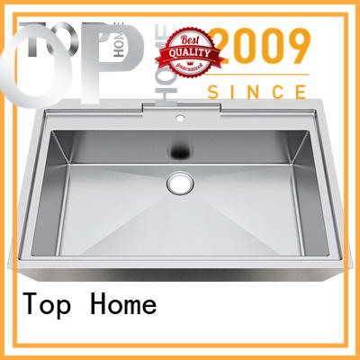 Modern stylish stainless steel sink clean fixtures