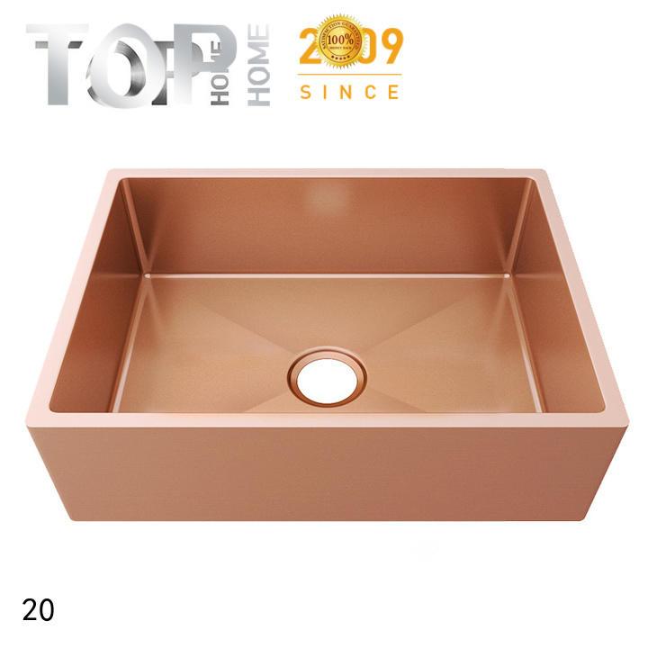 Top Home apron copper color kitchen sink apbr2020s for apartment