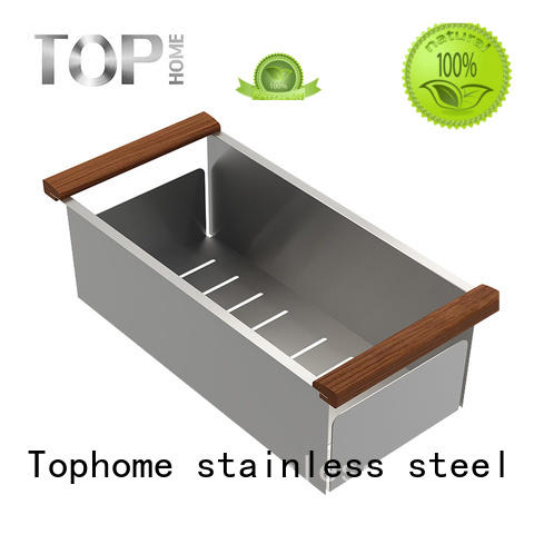 Top Home modern sink colander stainless steel factory price for farmhouse