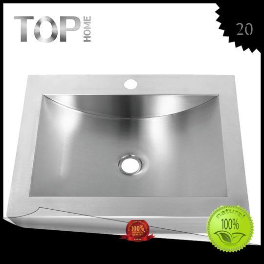 Custom handmade sink stainless steel bathroom sink Top Home brushed
