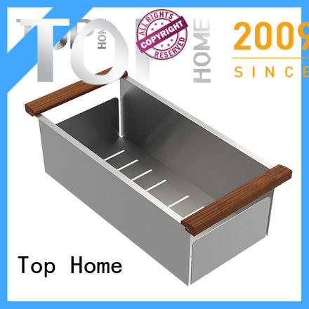 Top Home stainless over the sink colander strainer for farmhouse