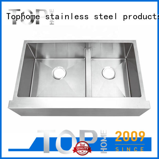Top Home apronfront stainless farm sink easy cleanning for kitchen