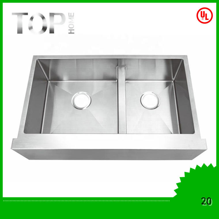 Top Home easy installation stainless apron sink for sale for outdoor