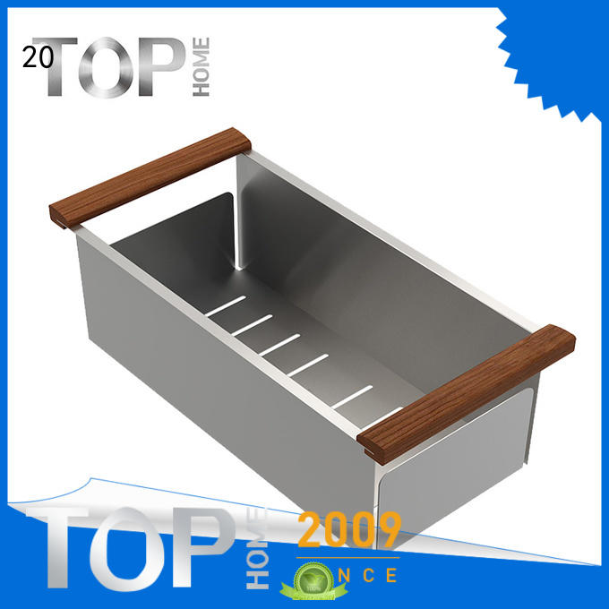 Top Home modern stainless steel sink colander wash easily for cooking utensils