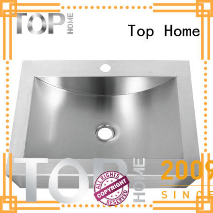 Top Home pedestal stainless bathroom sink corner for laundry