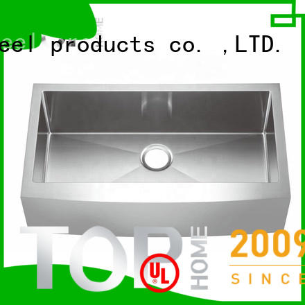 Top Home cupc stainless steel apron sink dewatering rapidly for outdoor
