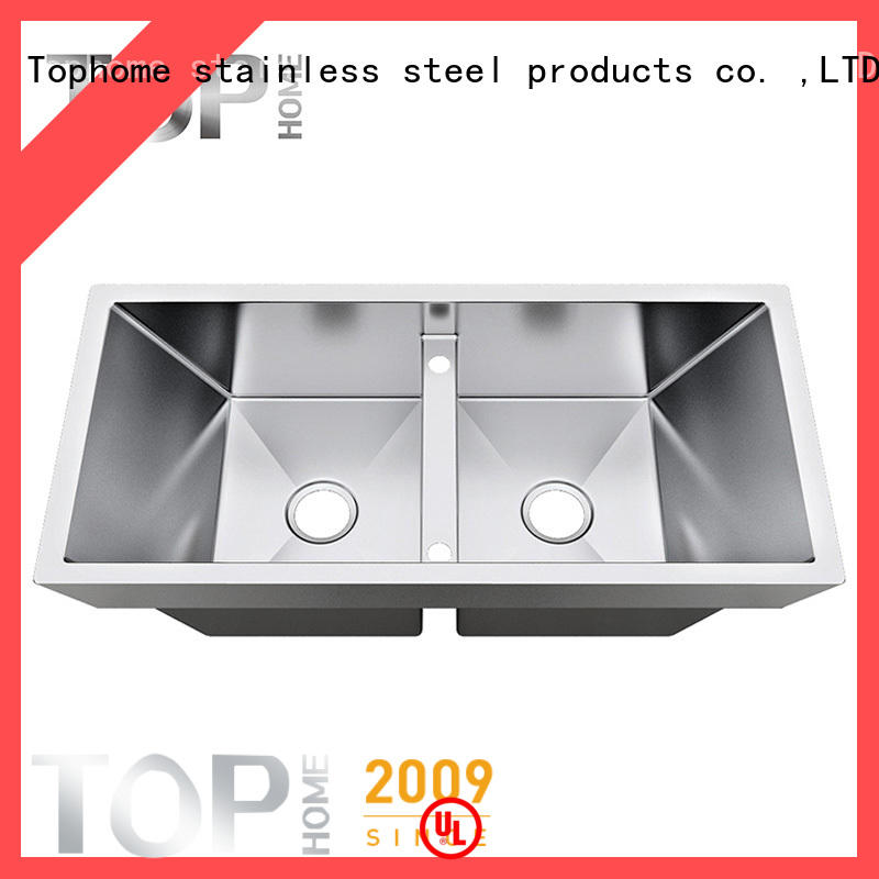 Top Home Double Bowls top mount kitchen sinks online cook