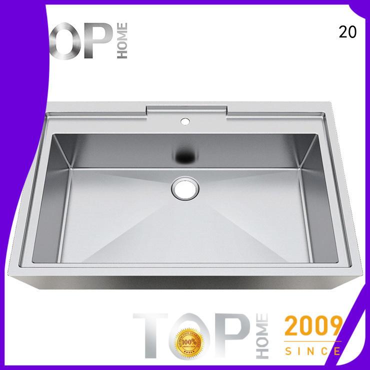 Top Home pedestal stainless steel bathroom sink durability for washroom