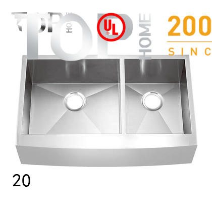 Top Home easy installation farmhouse apron sink easy cleanning for countertop