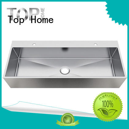 Top Home apbr4620s7 industrial bathroom sinks stainless steel corner for laundry