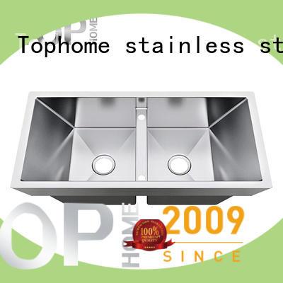 Top Home Double Bowls top mount apron front sink double villa