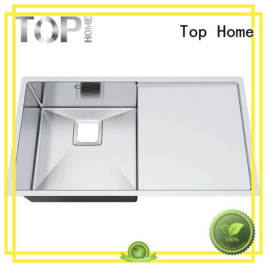 Top Home Brand steel bowl over mount double sinks mount supplier