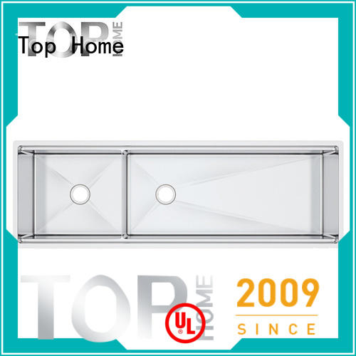 Top Home handmade double bowl kitchen sink for restaurant