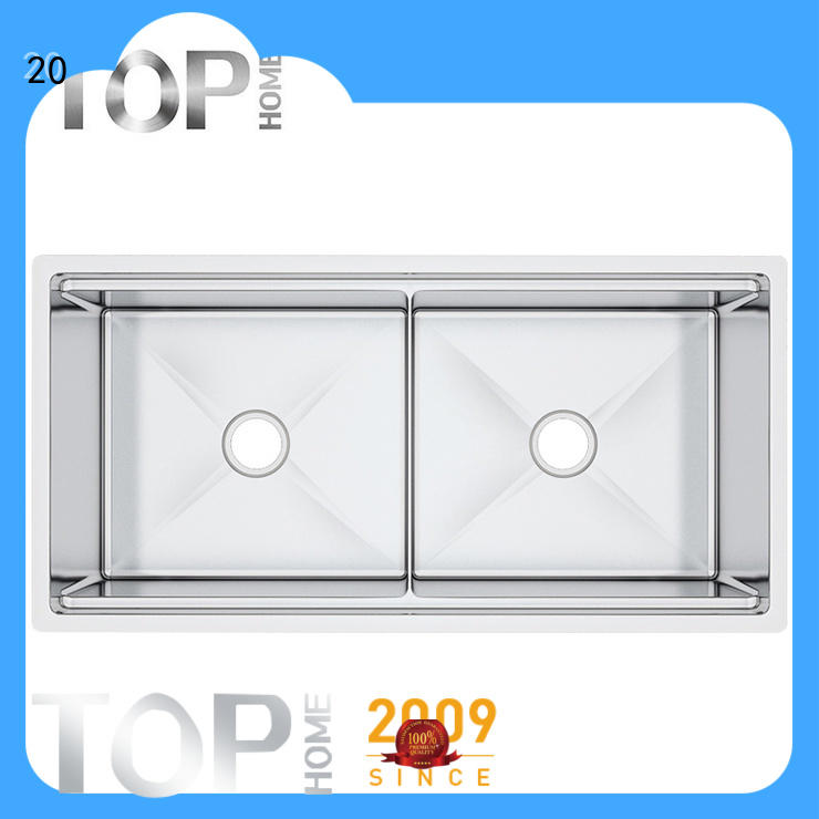 Top Home ldr7020bl stainless steel undermount sink easy cleanning for cooking