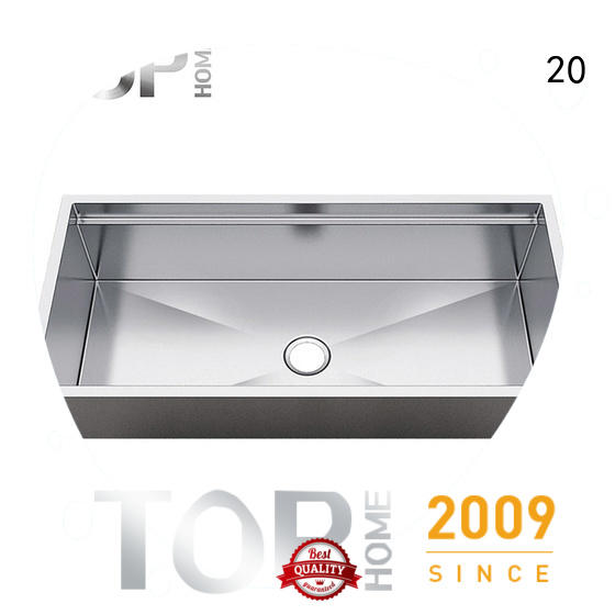 Top Home durable stainless steel kitchen sinks easy cleanning for restaurant