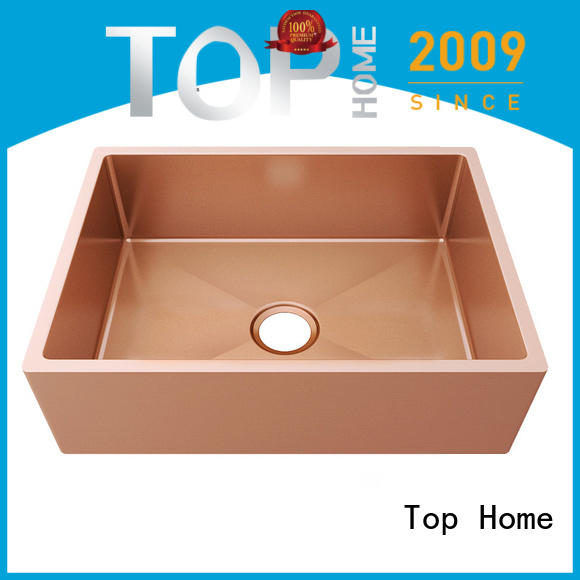 Top Home apron stainless steel bathroom sink double bowls
