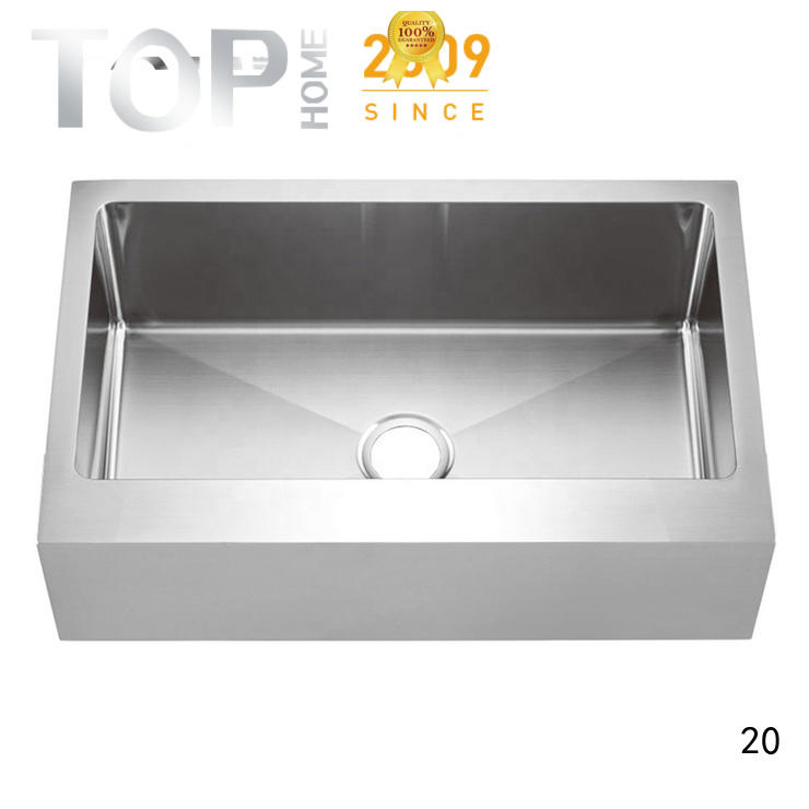 Top Home stainless steel apron front sink easy cleanning restaurant