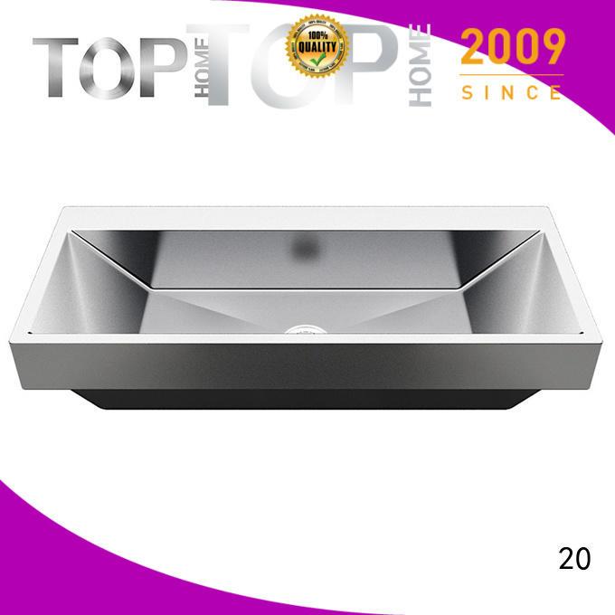 Modern stylish stainless bathroom sink r10r15r20 durability for Lavatory