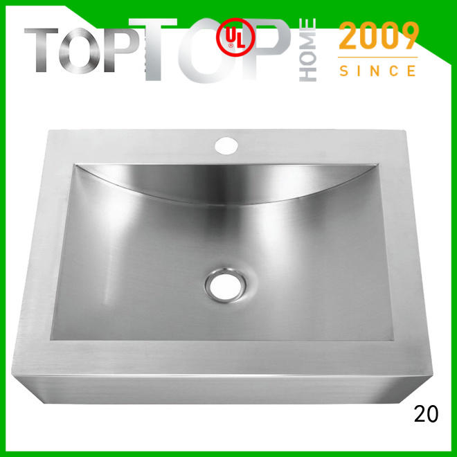 Top Home Modern stylish stainless bathroom sink wholesale