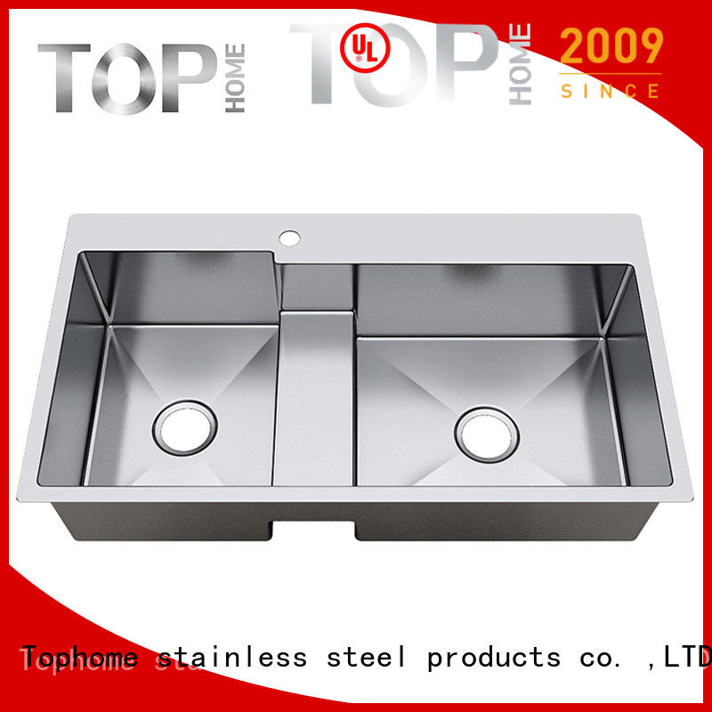 Top Home easy cleanning top mount stainless steel sink easy cleaning villa