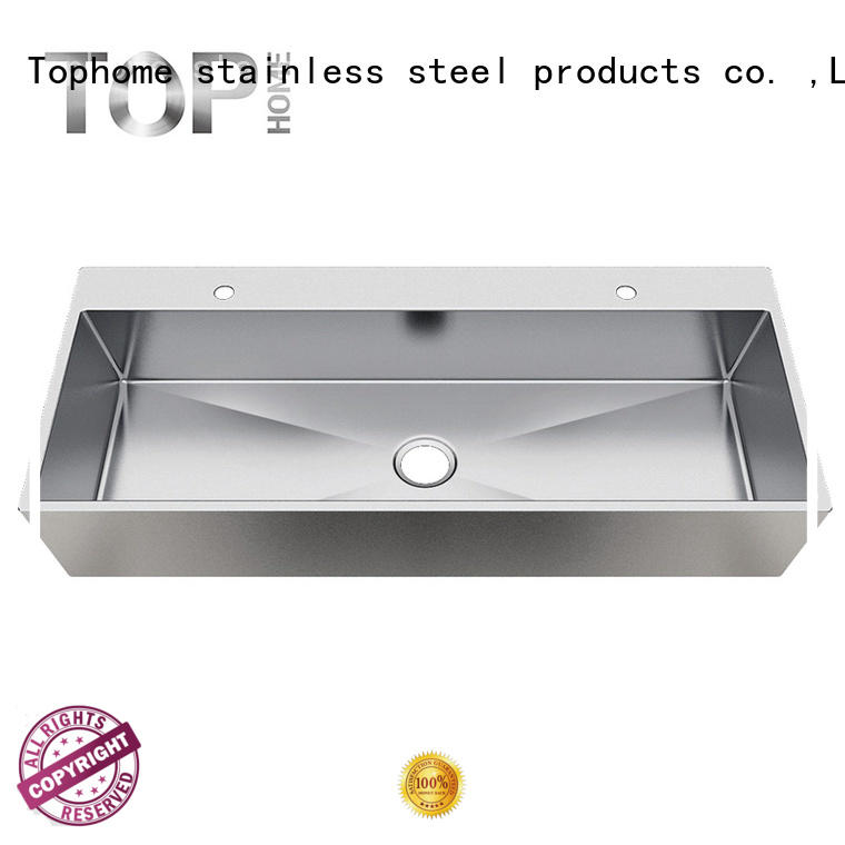 Top Home good quality commercial stainless steel bathroom sinks steel