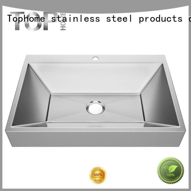 easy stainless steel sink handmade bathroom Top Home