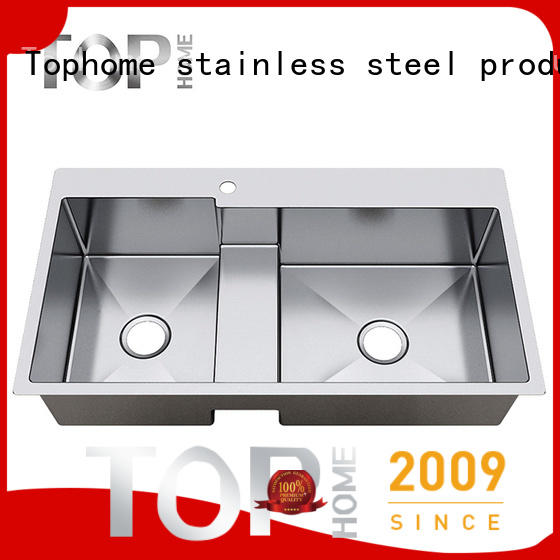 Top Home Stainless steel kitchen sink price easy cleaning villa