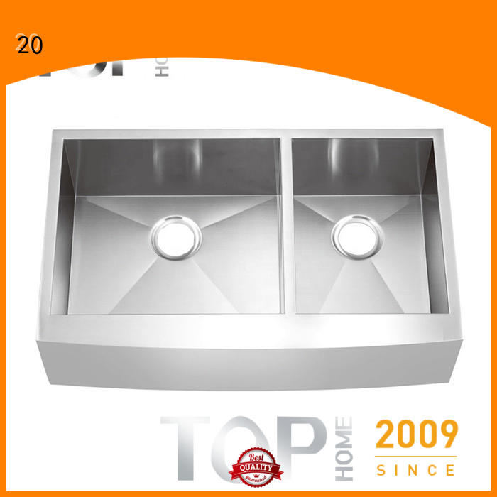 Top Home 36 apron sink dewatering rapidly for outdoor