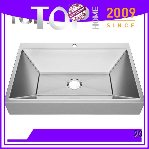 Top Home durability stainless steel undermount bathroom sink wholesale for bathroom