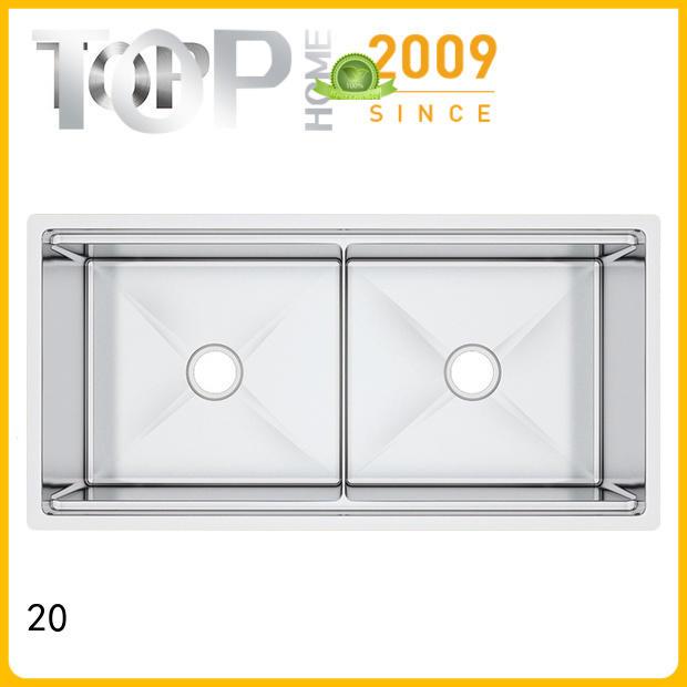 Top Home 40x20x10 undermount stainless steel kitchen sink for restaurant
