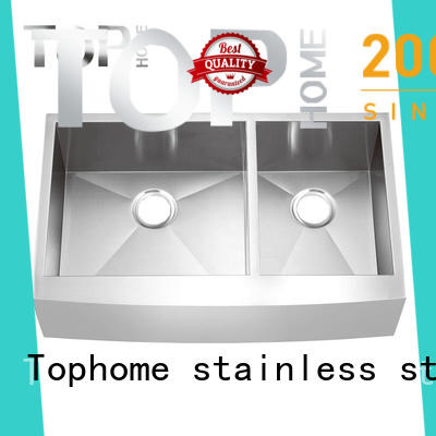 Top Home stainless farmhouse sink dewatering rapidly for kitchen