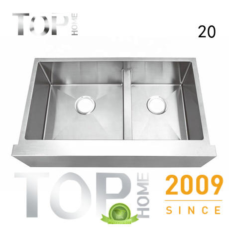 Top Home 1618g farmhouse apron sink easy cleanning for kitchen