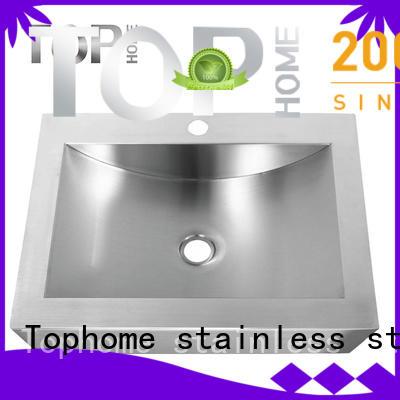Modern stylish stainless steel undermount bathroom sink certification durability for washroom