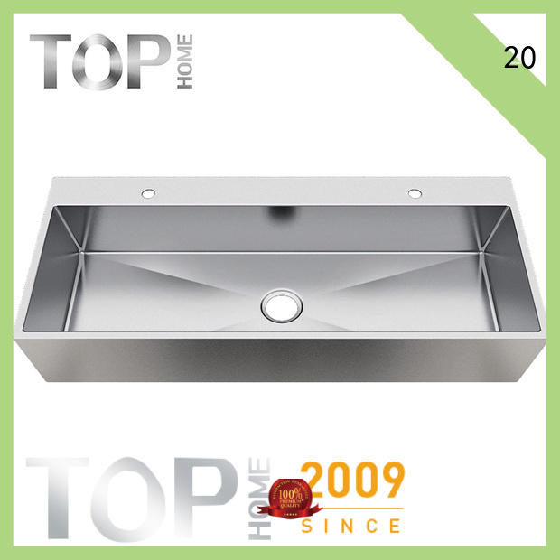 Top Home durable stainless steel bathroom basin rectangular for Lavatory