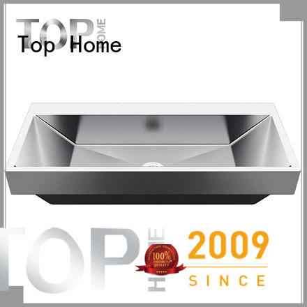 Top Home pedestal stainless steel bathroom sink basin for bathroom