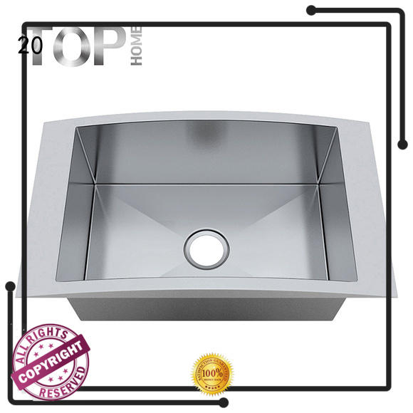 easy cleanning top mount stainless steel kitchen sink easy installation farmhouse Top Home
