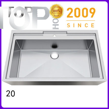 Top Home pedestal stainless steel bathroom sink basin for Lavatory