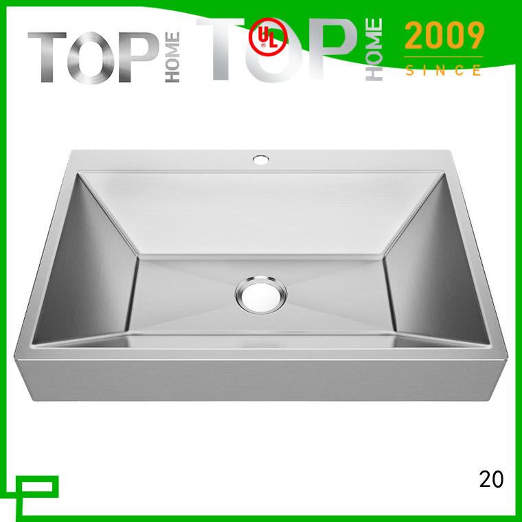 Top Home Modern stylish stainless steel bathroom sink basin