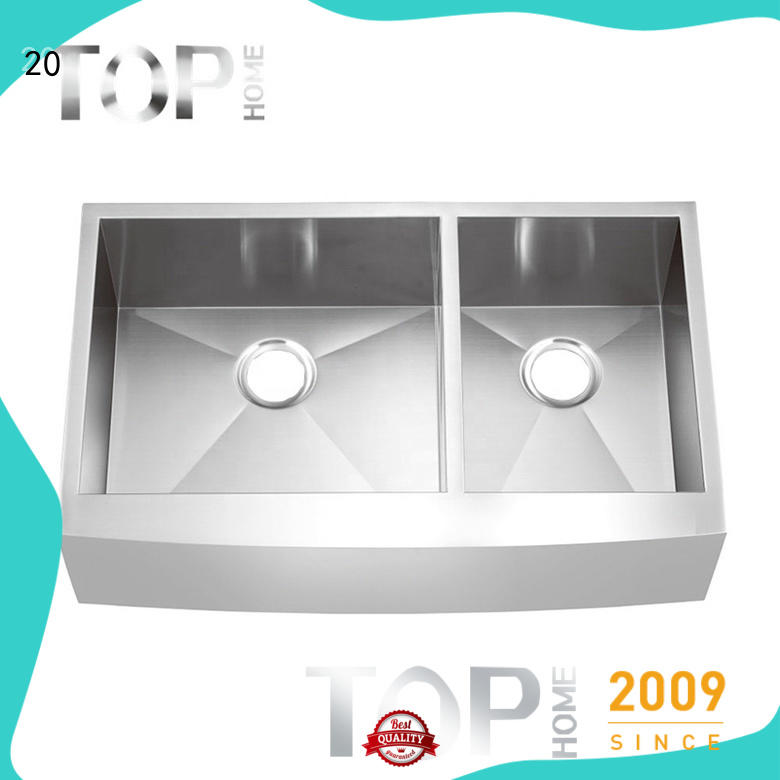 Top Home stainless steel double sink kitchen certification for restaurant