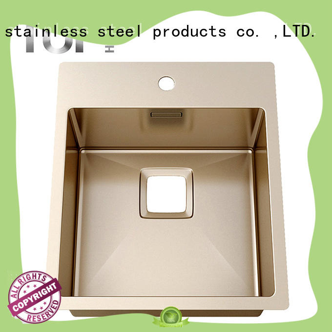 Hot copper color kitchen sink commercial Top Home Brand