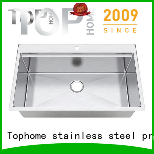 Top Home handmade stainless steel under mount sink online for cooking